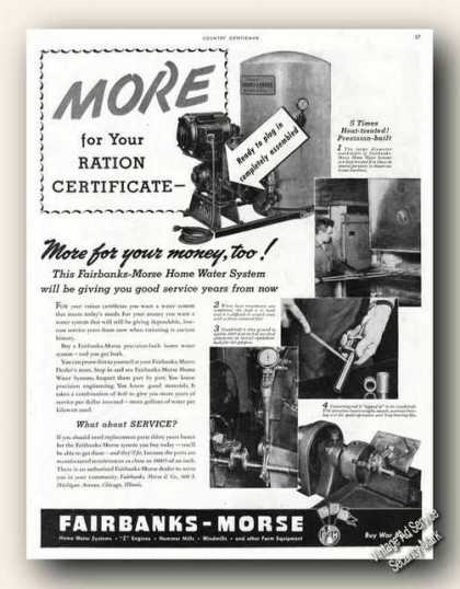 Fairbanks-morse Home Water System Wwii Farm (1943)