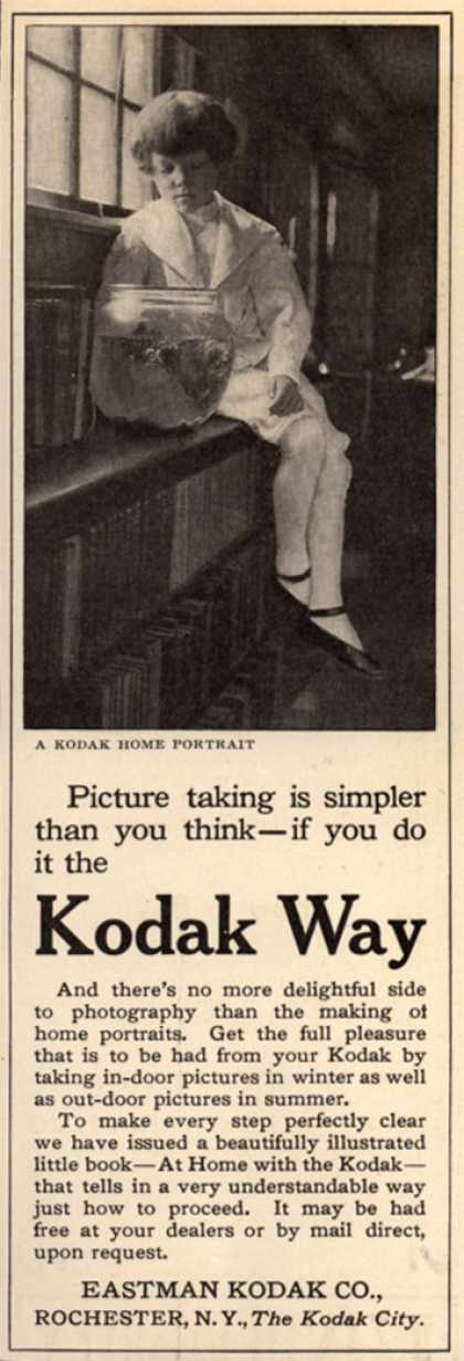Kodak – Picture taking is simpler than you think – if you do it the Kodak Way (1912)