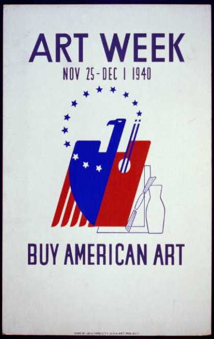Art week, Nov. 25 – Dec. 1, 1940 – Buy American art. (1940)