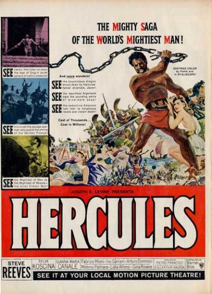 Hercules Movie Steve Reeves T (1962)