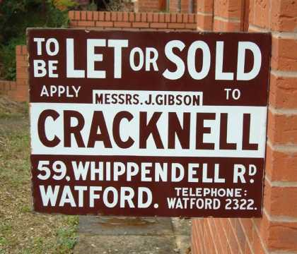 To Let or Sold Sign – Cracknell Watford