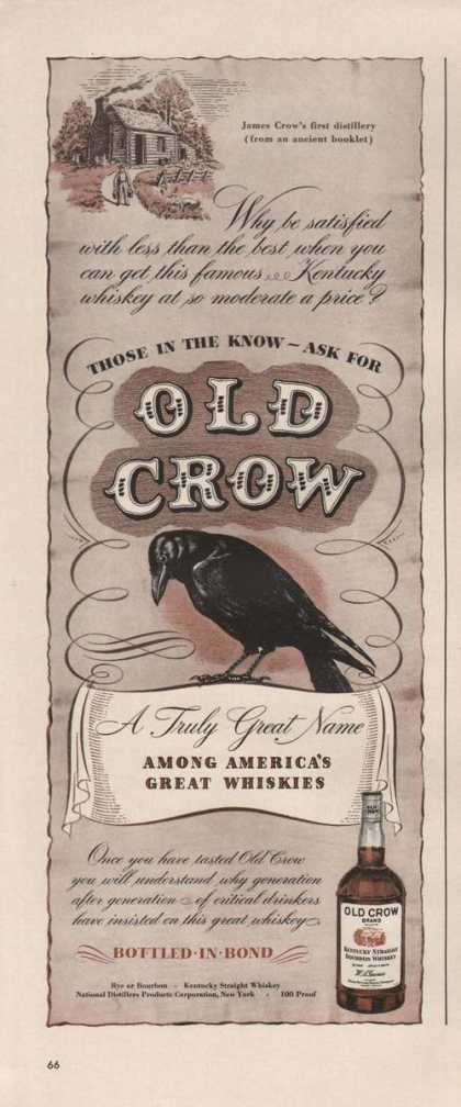 Those In the Know Ask for Old Crow Whiskie (1942)