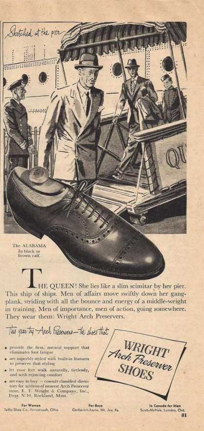 Wright Arch Preserver Mens Shoes (1947)