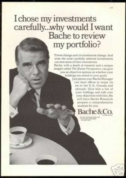 Bache Co Financial Investment Portfolio (1966)