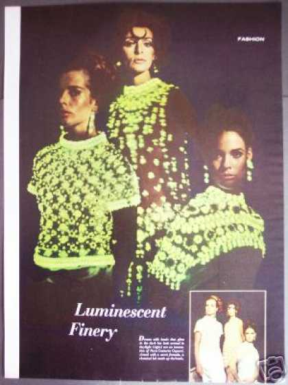 Couturier Capucci Luminescent Dress Fashion (1965)