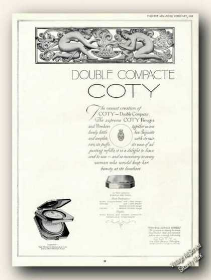 Double Compacte Coty Rouges (1928)