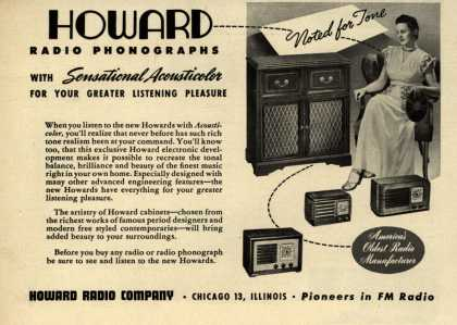 Howard Radio Company's Various – Howard Radio Phonographs with Sensational Acousticolor for Your Listening Pleasure (1946)