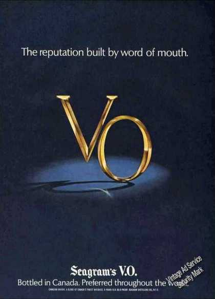 "Seagram's V.o. ""Reputation By Word of Mouth"" (1978)"