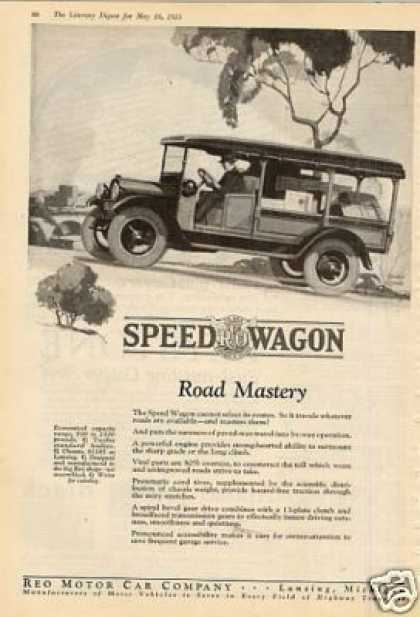 Reo Speed Wagon Truck Ad Road Mastery... (1925)