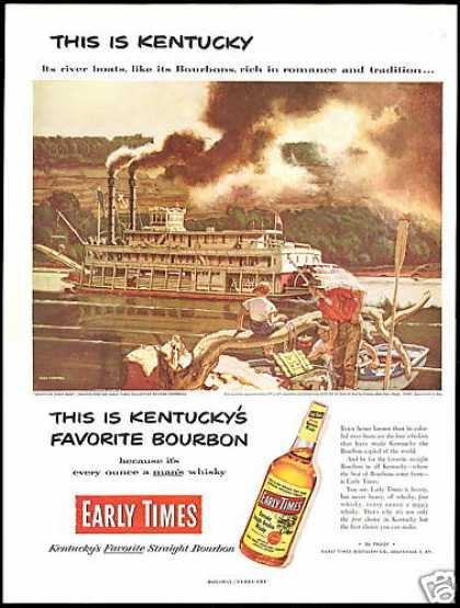 Kentucky River Boat Early Times Bourbon (1953)
