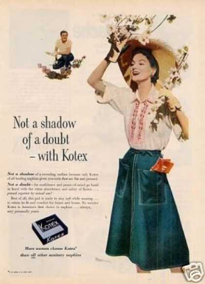 Kotex Sanitary Napkins (1952)