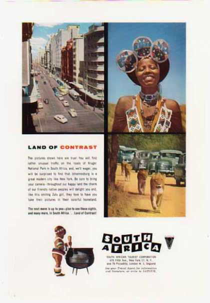 South Africa Travel – Tourist Corporation (1957)