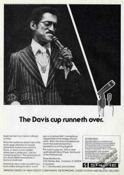 Sammy Davis Jr Photo Shure Sm56 Microphone (1978)