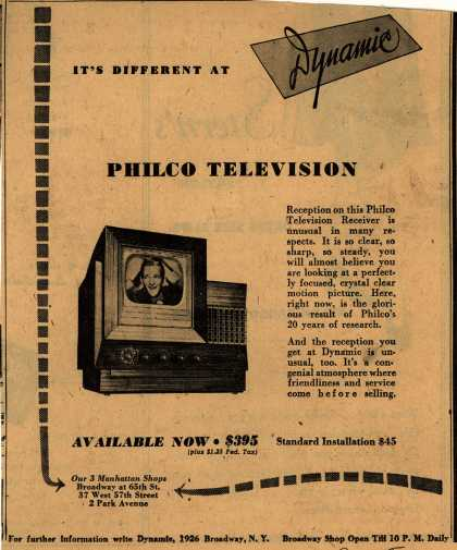 Philco – It's Different At Dynamic (1947)