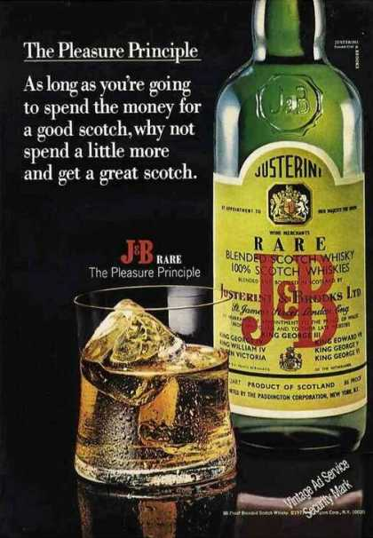 "J&b Rare ""The Pleasure Principle"" Scotch (1971)"