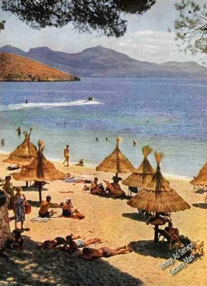 Formentor Beach On Isle of Majorca Magazine Photo (1963)