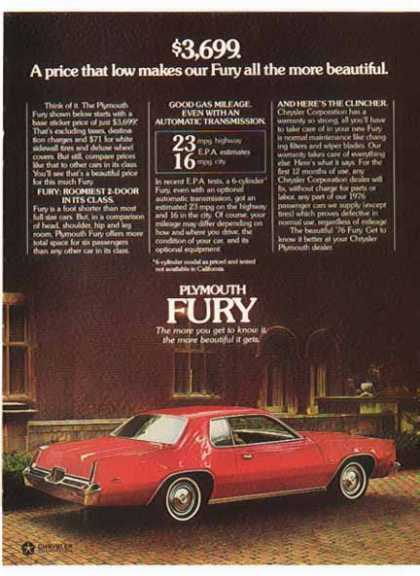 Chrysler Car – Plymouth Fury / Red (1976)