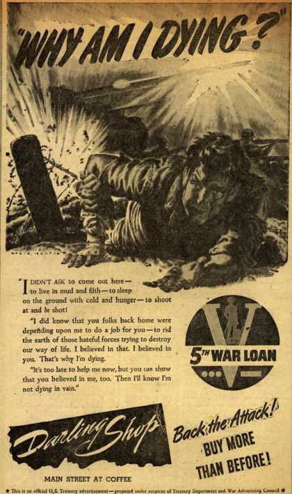 "U. S. Treasury Dept.'s 5th War Loan – ""Why Am I Dying?"" (1944)"
