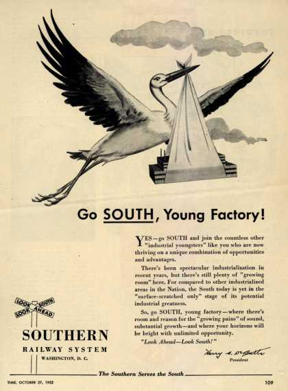 Southern Railway System's Industrial South – Go SOUTH, Young Factory (1952)