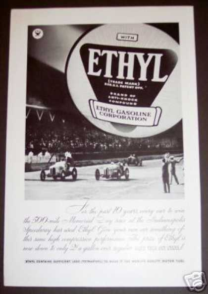 Indianapolis 500 Ethyl Gasoline Gas (1934)
