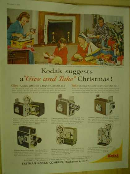 Eastman Kodak Company Give and take christmas. Movie cameras and projectors (1959)
