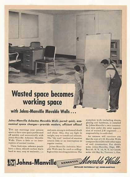 Johns-Manville Asbestos Movable Walls (1953)