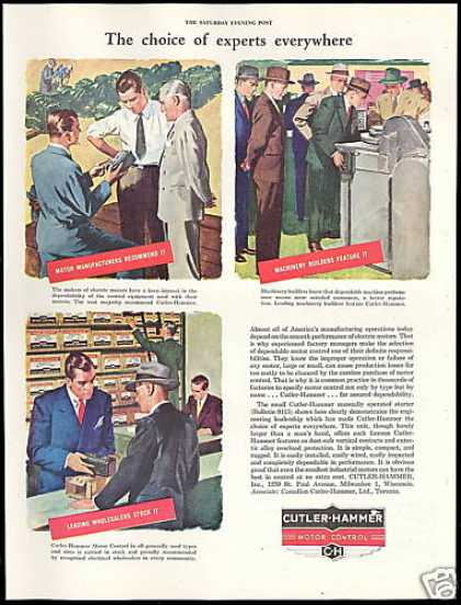 C-H Cutler Hammer Motor Control Experts Choice (1946)