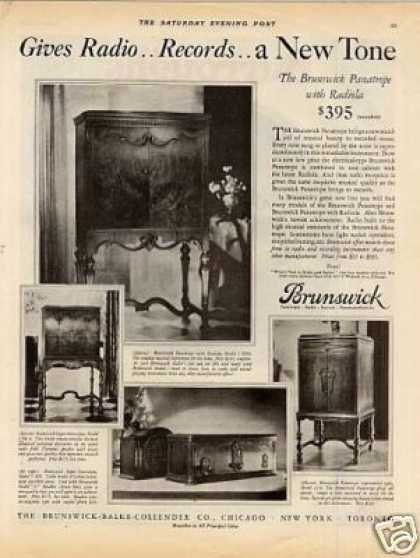 Brunswick Radio Ad Model 3 Kro, 5nc8, 12-8, 5 (1928)