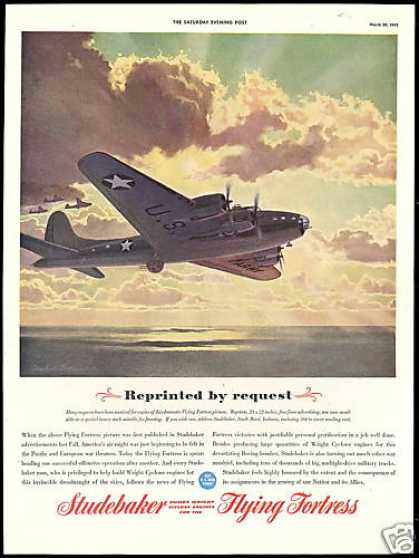 Flying Fortress WWII Studebaker Wright Engines (1943)