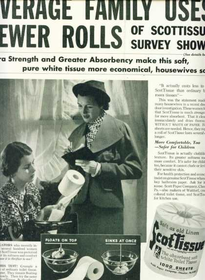 Scottissue Toilet Paper (1936)