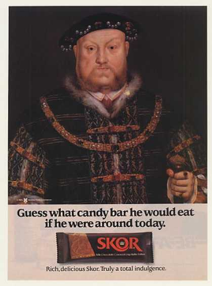 King Henry VIII Hershey Skor Candy Bar (1985)