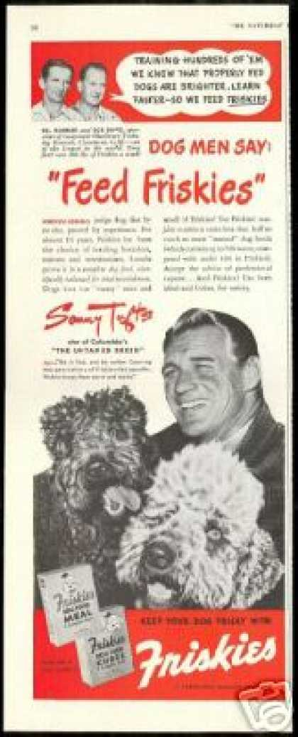 Sonny Tufts Poodle Dog Photo Friskies (1948)