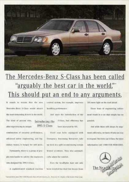 "Mercedes-benz S-class ""Best Car In the World"" (1995)"