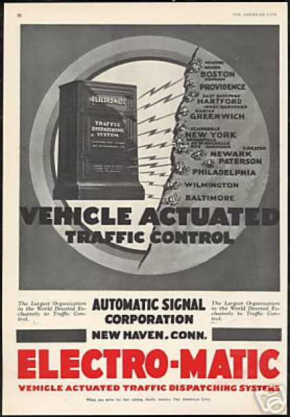 Automatic Signal Traffic Control Electro-Matic (1930)