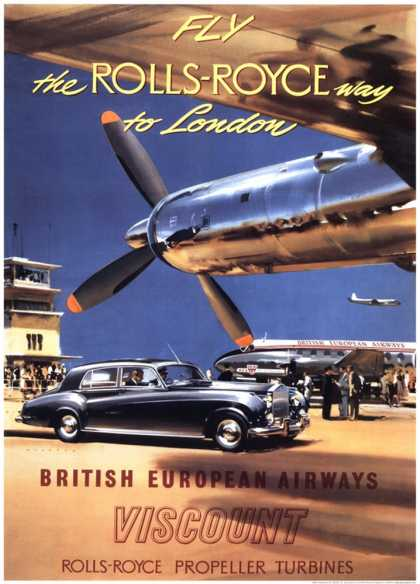 Fly the Rolls Royce way to London (1953)