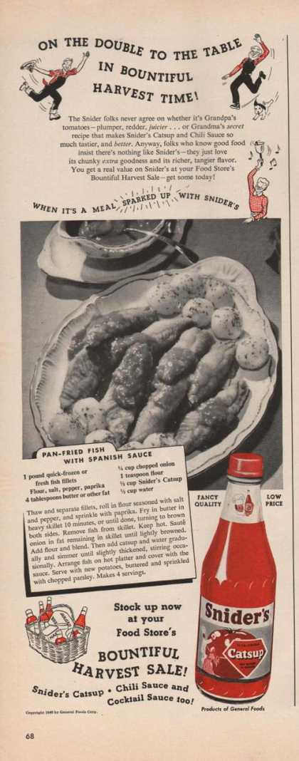 Sniders Catsup Harvest Sale (1949)
