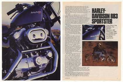 Harley-Davidson 883 Sportster Motorcycle Article (1987)