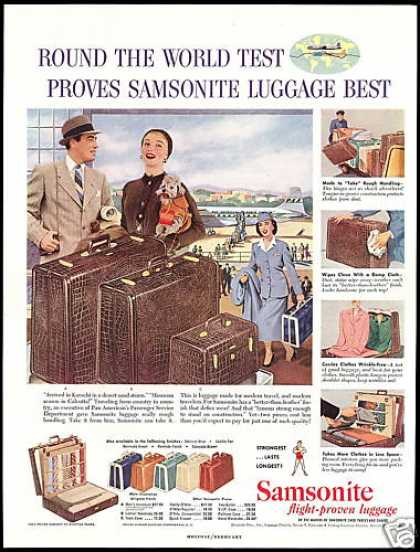 PAA Pan American Airlines Samsonite Luggage (1954)
