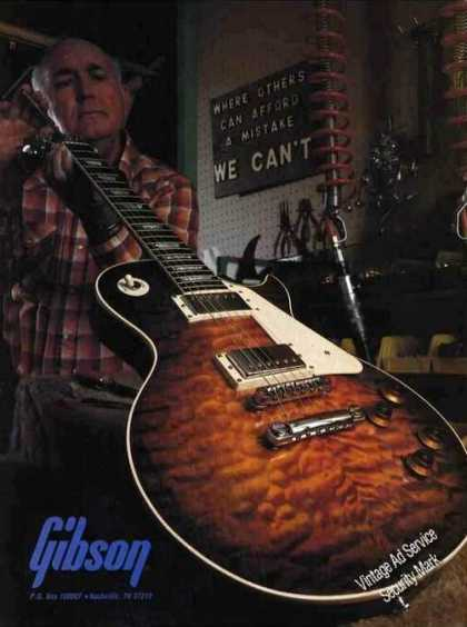 Beautiful Gibson Guitar Photo Technician (1981)
