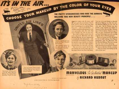 Richard Hudnut's Marvelous, The Eye Matched Makeup – It's In The Air... Choose Your Makeup By The Color Of Your Eyes (1936)