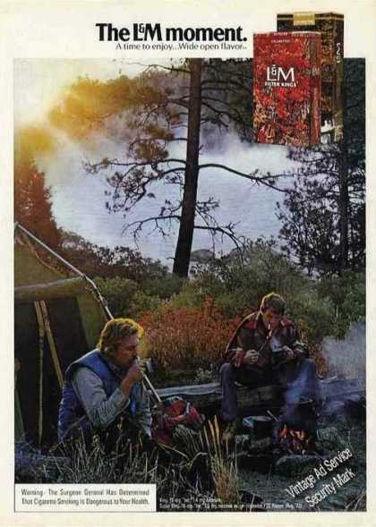 The L&m Moment Men Camping Cigarettes (1974)