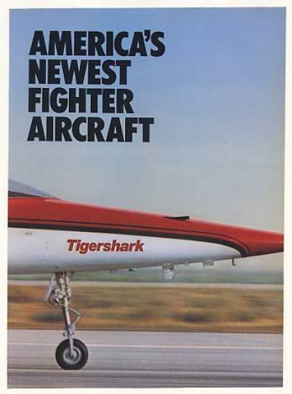 Northrop Tigershark Fighter Aircraft 4-Page (1982)