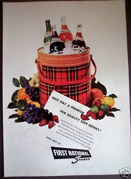 First National Stores Finast Beverages Drinks (1955)