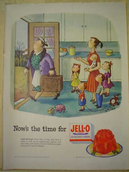 Jello Jell-o Now's the time for Jello Maid leaving theme (1953)