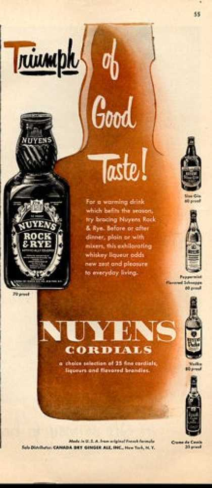 Nuyens Cordials Bottles (1952)