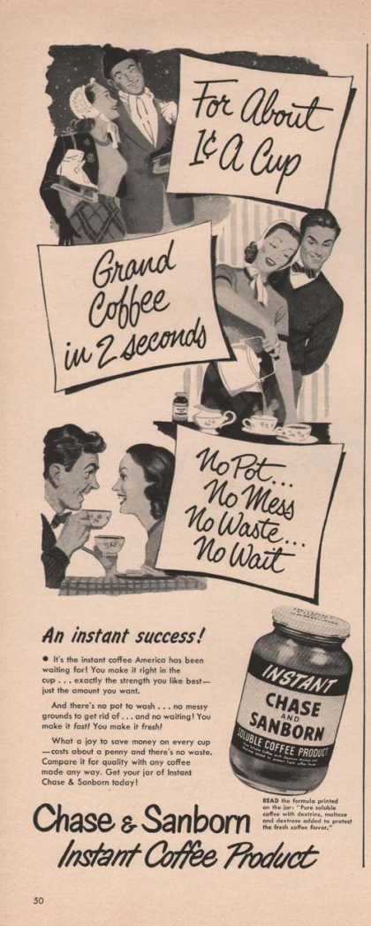 Instant Chase & Sanborn Grand Coffee (1949)