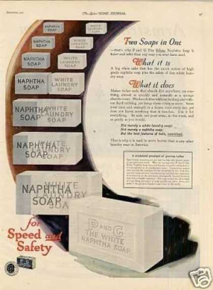 P and G White Naptha Soap Color (1921)