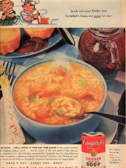 Campbell's 'Chicken with Rice Soup' (1959)