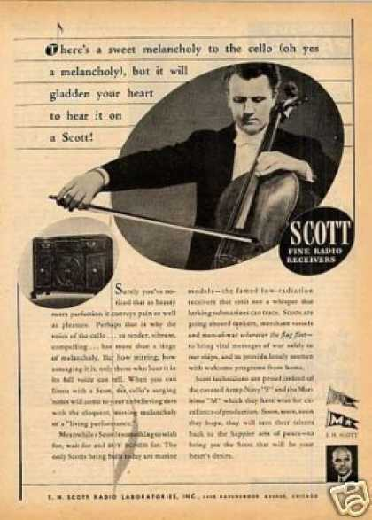 Scott Ad Cello (1943)