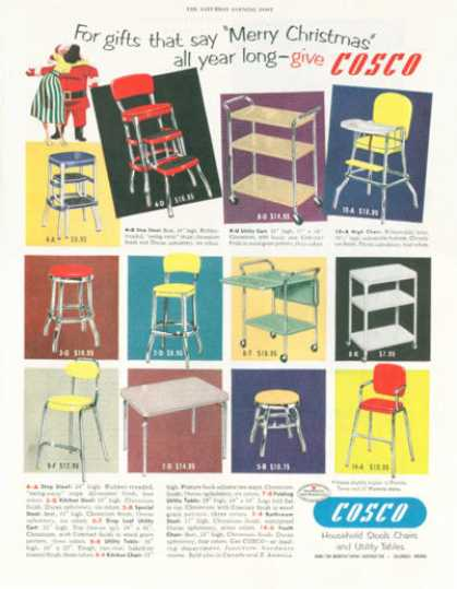 Cosco Table Stool Cart High Chair (1952)